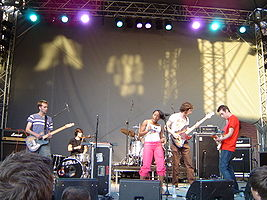 The Go! Team playing in Stockholm, 2004