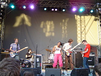 The Go! Team - The Go! Team playing in Stockholm, 2004