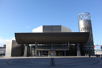 Salford Quays - The Lowry Theatre, designed by Michael Wilford.