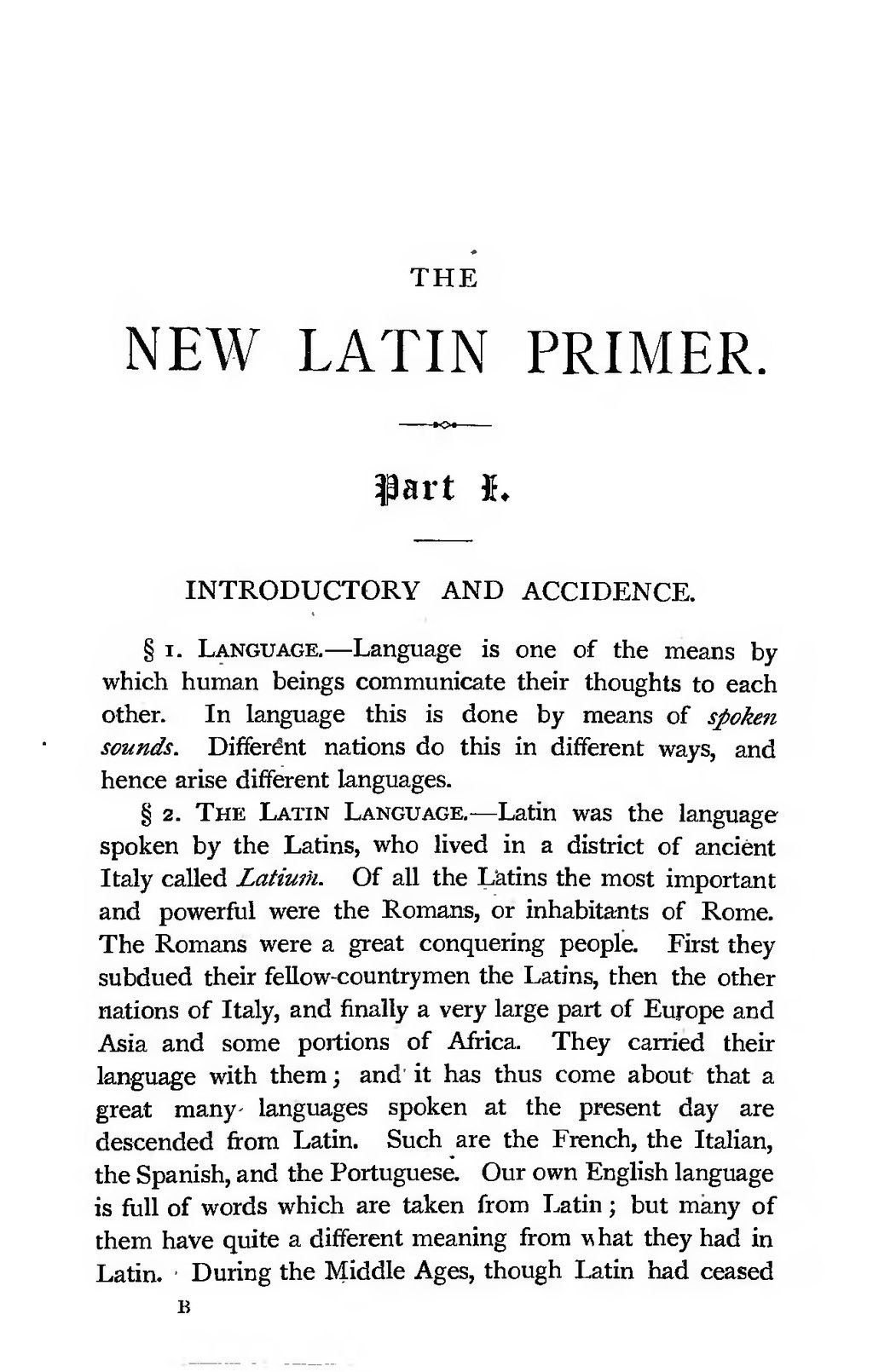 Latins in new