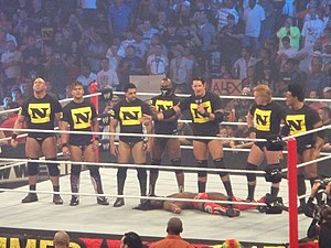 Justin Gabriel - Gabriel (second from left) with the rest of The Nexus at SummerSlam.