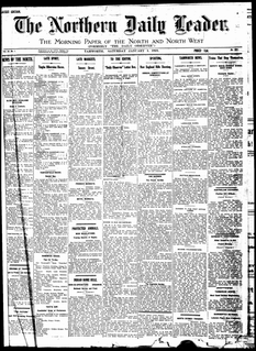 <i>Northern Daily Leader</i> daily newspaper produced in the city of Tamworth, New South Wales, Australia.
