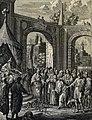 The Phillip Medhurst Picture Torah 297. Rod of Aaron turned into a serpent. Exodus cap 7 vv 9-12. Fridrich.jpg