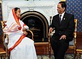 The President, Smt. Pratibha Devisingh Patil meeting the President of Mauritius, Sir Anerood Jugnauth, at State House, Mauritius on April 25, 2011.jpg