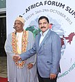 The President of Comoros, Dr. Ikililou Dhoinine being received by the Minister of State for Science and Technology and Earth Science, Shri Y.S. Chowdary, on his arrival, in New Delhi on October 28, 2015.jpg