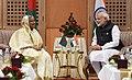 The Prime Minister, Shri Narendra Modi meeting the Prime Minister of Bangladesh, Ms. Sheikh Hasina, on the sidelines of the 4th BIMSTEC Summit, in Kathmandu, Nepal on August 30, 2018 (1).JPG