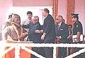 The Prime Minister Shri Atal Bihari Vajpayee garlanding the bust of Chhatrapati Shivaji Maharaj at Chhatrapati Shivaji International Airport in Mumbai on January 16, 2004.jpg
