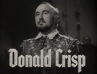 Donald Crisp English actor