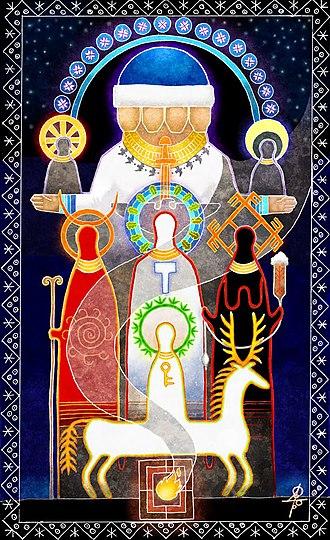 Slavic Native Faith's theology and cosmology - Image: The Seven Gods Maxim Sukharev
