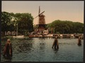 The Spaarne and windmill, Haarlem, Holland-LCCN2001699509.tif