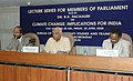 """The Speaker, Lok Sabha, Shri Somnath Chatterjee addressing at the Lecture Series for Members of Parliament on """"Climate Change Implication for India, in New Delhi on April 25, 2008.jpg"""