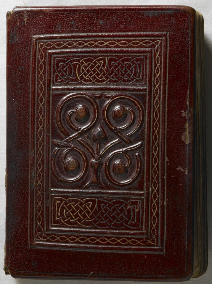 The St Cuthbert Gospel of St John. (formerly known as the Stonyhurst Gospel) is the oldest intact European book. - Upper cover (Add Ms 89000) (cropped)