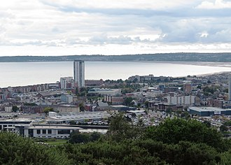 Kilvey Hill - The Tower, viewed from Kilvey Hill