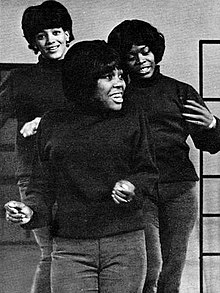 The group in 1965: June Montiero (left), Barbara Harris (center), and Barbara Parritt (right)