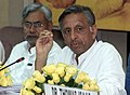 The Union Minister for Panchayati Raj, Youth Affairs & Sports, Shri Mani Shankar Aiyar addressing media persons on the outcome of the meeting of the Empowered Sub-Committee of National Development Council on Financial.jpg