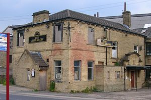 Racism in the United Kingdom - Pub damaged in the 2001 Bradford riots between White and Pakistani sectors