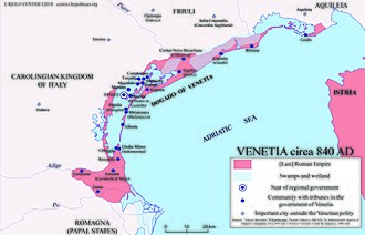 Republic of Venice - The Venetia c 840 AD
