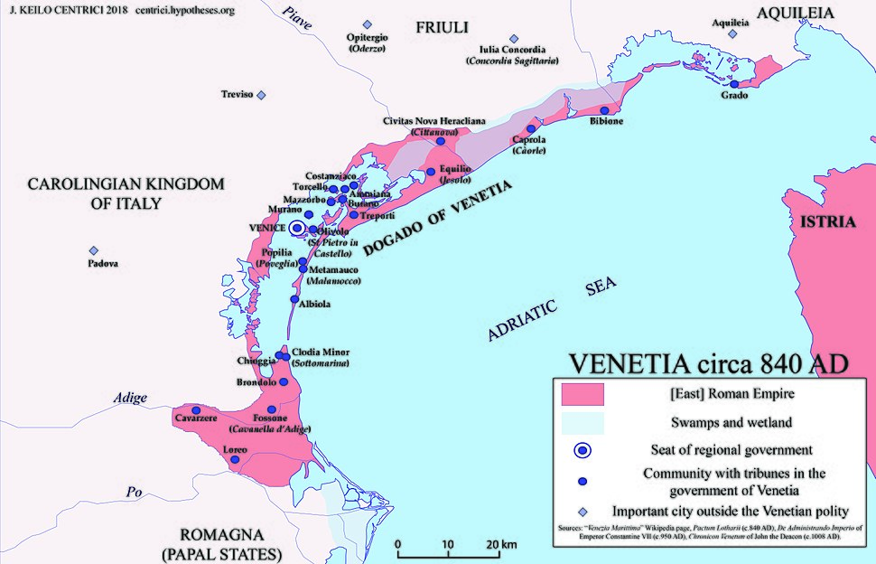 The Venetia c 840 AD