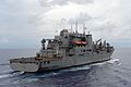 The dry cargo and ammunition ship USNS Charles Drew (T-AKE 10) steams through the Philippine Sea prior to a replenishment at sea with the guided missile cruiser USS Antietam (CG 54), not pictured, Aug. 15, 2013 130815-N-TG831-126.jpg
