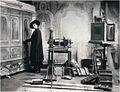 The interior of the A. Michailov's photographic studio. 1912.jpg