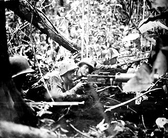 Operation Dexterity - U.S. Marines in the jungle at Cape Gloucester