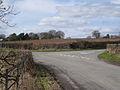 The lane past Hill Farm meets Rouncil Lane - geograph.org.uk - 1769572.jpg