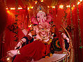 The sculpture of lord Ganesh during ganes festival in India 2013-08-04 17-21.jpg