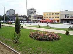 The small park in the city square in Tetovo, Macedonia.JPG
