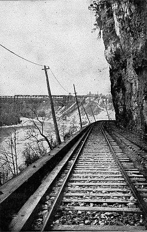 Niagara Gorge Railroad - Image: The street railway review (1891) (14574719767)