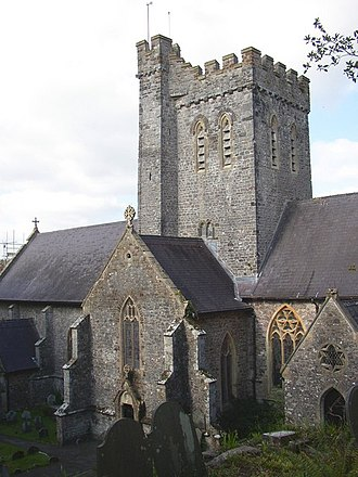 Laugharne - Tower of St Martin's church