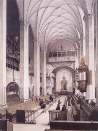 Liebster Immanuel, Herzog der Frommen, BWV 123 - Thomaskirche, Leipzig 1885