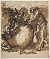 Three Figures around a globe MET DP811503.jpg