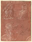 Three Virtues (Temperance, Hope, and Fortitude or Justice) and Studies of a Seated Man MET DP358989.jpg