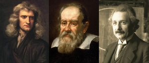 Picture of Isaac Newton, Galileo Galilei and A...