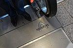 Thyssen logo on its escalator at Munich Airport.jpg