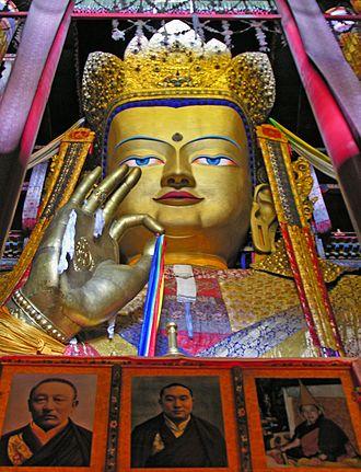 Tibet Autonomous Region - Maitreya Buddha statue of Tashilhunpo Monastery in Shigatse