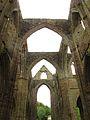 Tintern Abbey from inside - arches.JPG