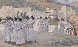 Israelitterne marcherer omkring Jeriko.