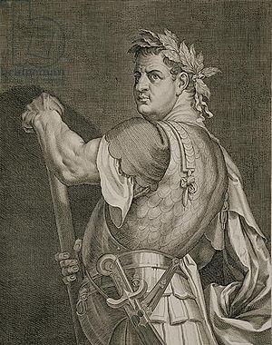 Eleven Caesars - The Emperor Titus, by Aegidius Sadeler II