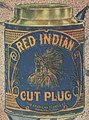 Tobacco tin from the American Tobacco Co. detail, .. Red Indian cut plug .. LCCN2014646800 (cropped).jpg
