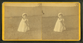 Toddler with croquet mallet and stake, by M. & H. W. Smith.png