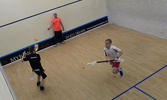 VX (sport) - Tom Hildreth in action against Scott Snowdon in the 2013 V2 World Cup Final.  Tom became the first player to retain the title