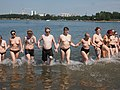 Top-free flash mob at Hietaniemi beach 1.jpg