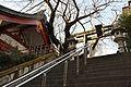 Top of the Stone Steps of Ichigaya Kameoka Hachimangu Shrine in Tokyo.jpg