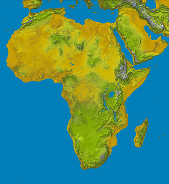 Physical map of Africa Topography of africa.png