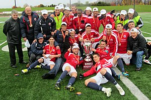 Toronto Croatia - Toronto Croatia celebrating CSL Championship in 2012