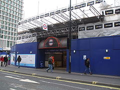 Tottenham Court Road stn main entrance under refurb Oct 09.JPG