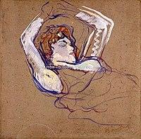 Toulouse-Lautrec - FEMME COUCHEE SUR LE DOS LES BRAS LEVES, 1894, MTL.169.jpg