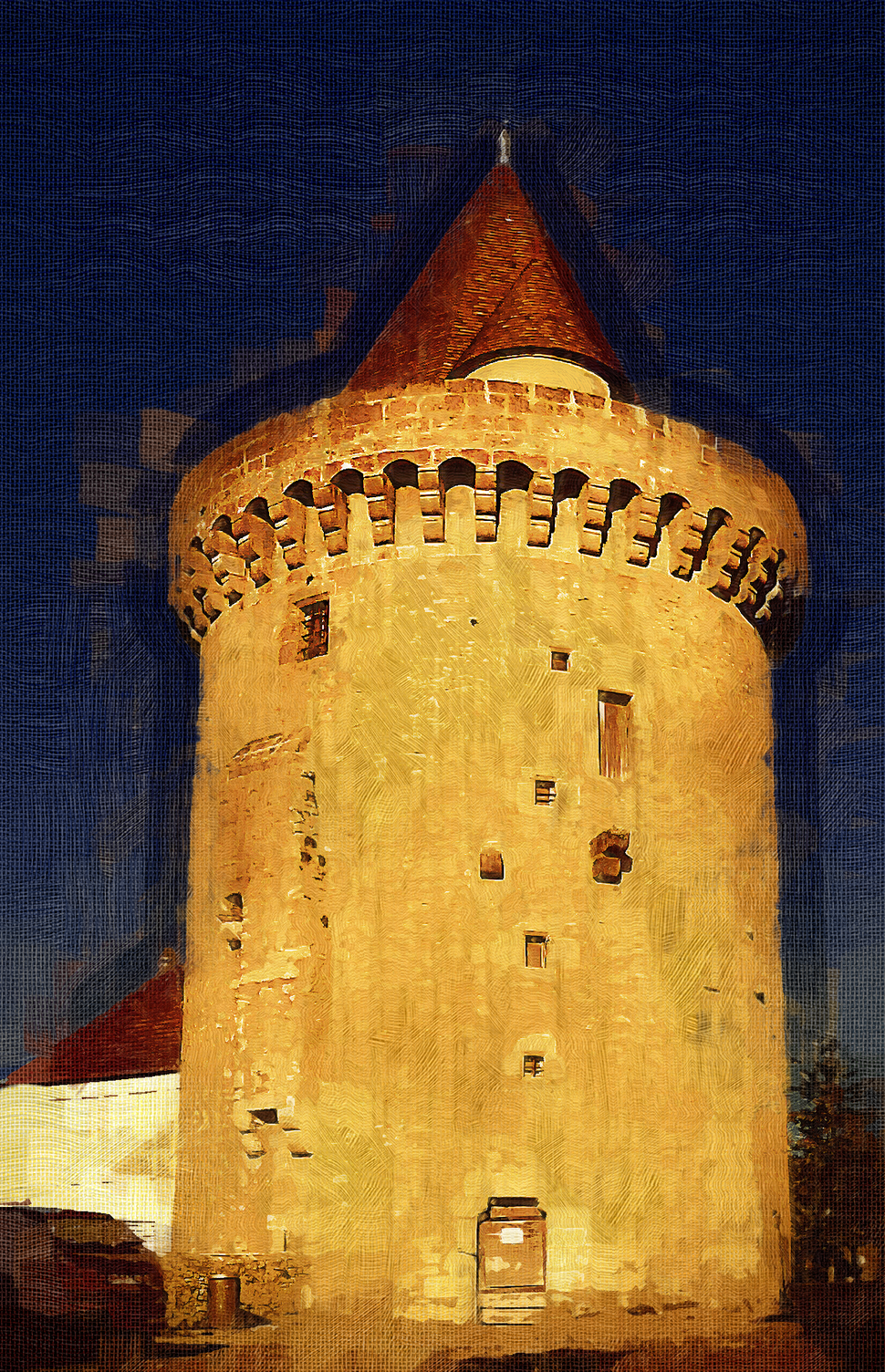 Tour Margarite is the only surviving tower from the original fortifications.