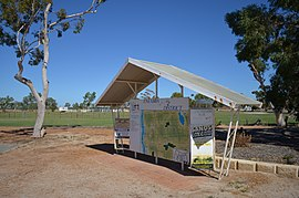 Town facilities sign, Eneabba, 2013.JPG